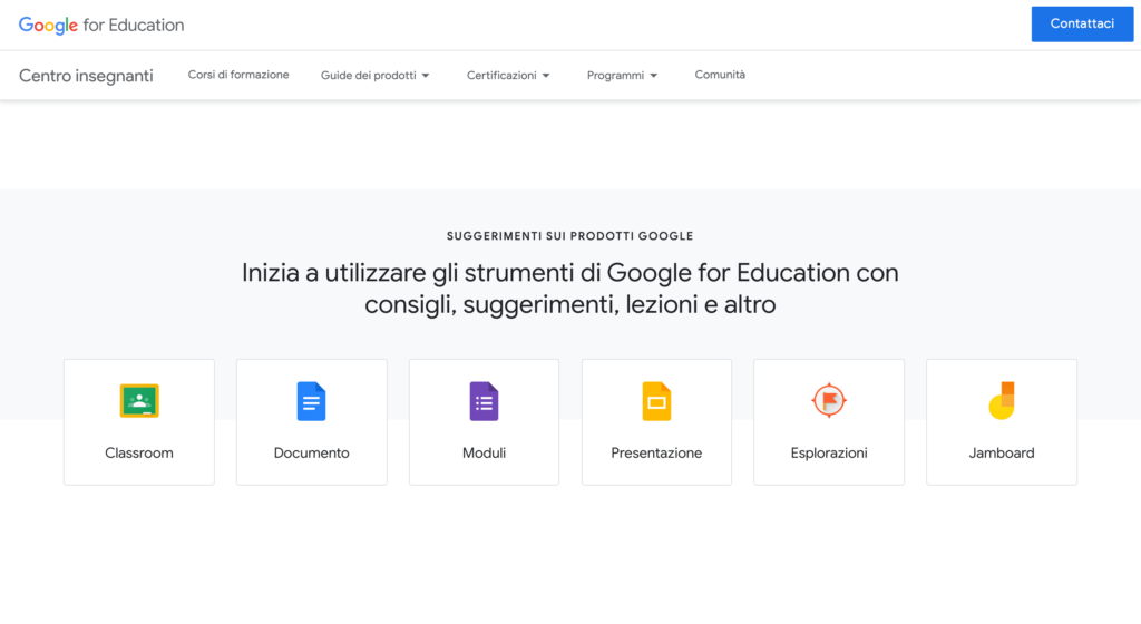 teacher center di google