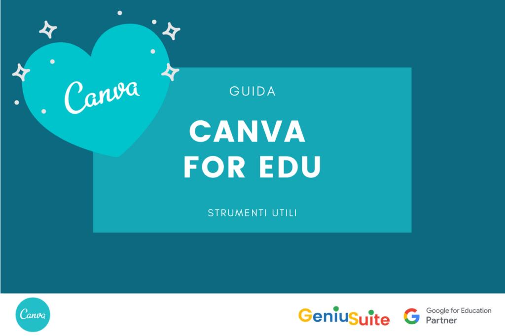 canva for education tutoria italiano